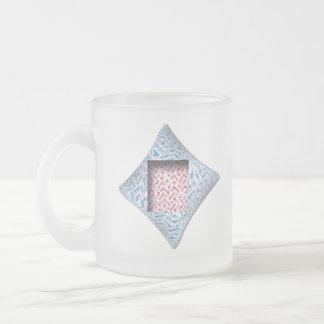 Diamond Cushion Frosted Mug