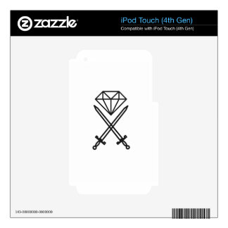 Diamond cut decal for iPod touch 4G