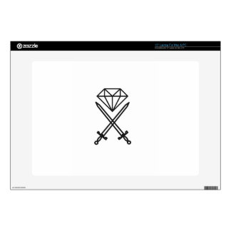 Diamond cut decals for laptops