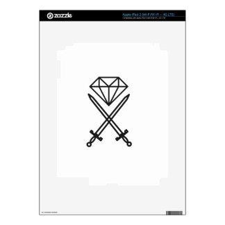 Diamond cut iPad 3 skins