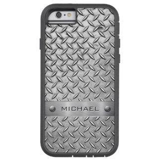 Diamond Cut Pattern Metal Plate Tough Xtreme iPhone 6 Case