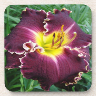 Diamond Cutter Daylilly (6) Cork Coasters