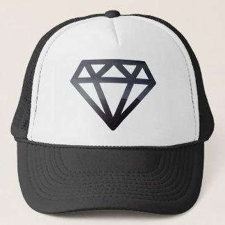 Diamond cutting out a dark landscape trucker hat