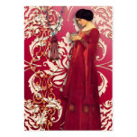 Diamond Damask, FASCINATION in Red & Pink Large Business Cards (Pack Of 100)