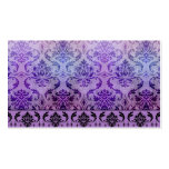 Diamond Damask, SHADOWS and FOG in Purple Business Card Templates