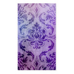 Diamond Damask, SHADOWS and FOG in Purple Business Card Template