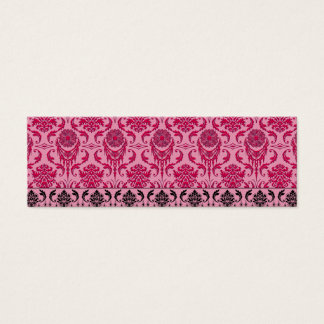 Diamond Damask, THE QUEEN'S JEWELS in Red & Pink Mini Business Card