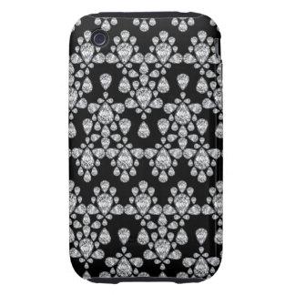 Diamond Damask Tough iPhone 3 Cover