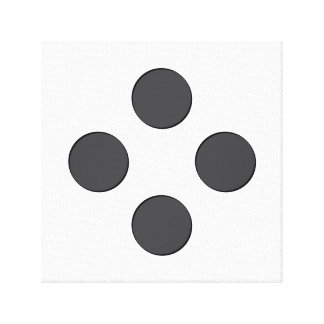 Diamond DarkGrey Dots Canvas Print