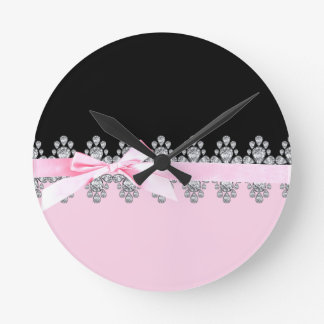 Diamond Delilah Round Wall Clocks