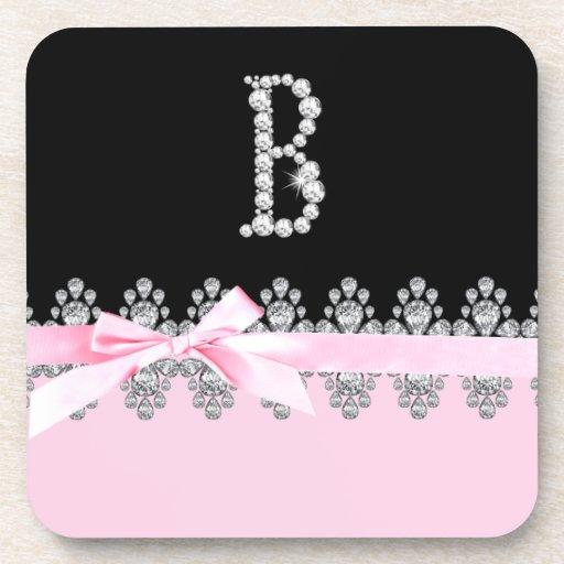 Diamond Delilah Initial: B Drink Coaster