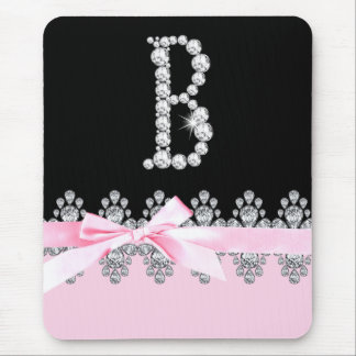 Diamond Delilah Initial: B Mouse Pad