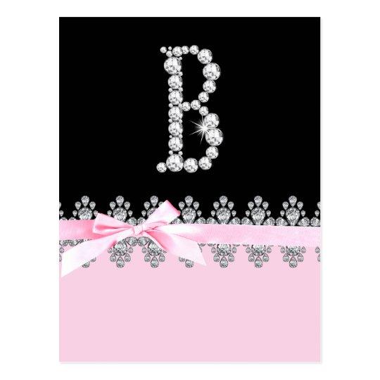 Diamond Delilah Initial: B Postcard