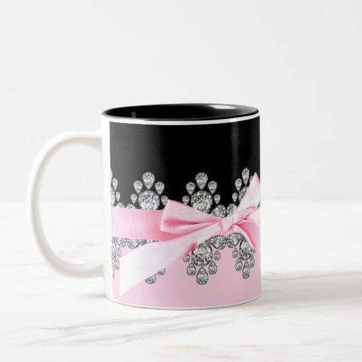 Diamond Delilah Two-Tone Coffee Mug