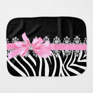 Diamond Delilah Zebra (Pink) Burp Cloth