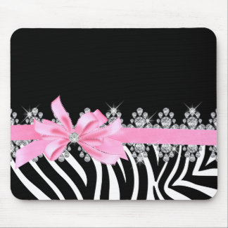 Diamond Delilah Zebra (Pink) Mouse Pad