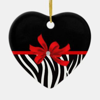 Diamond Diva (red) Ceramic Ornament