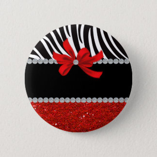 Diamond Diva (red glitter) Button
