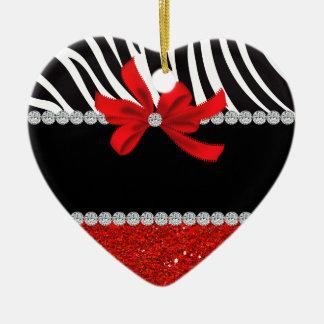 Diamond Diva (red glitter) Ceramic Ornament