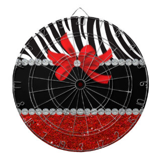 Diamond Diva (red glitter) Dartboard
