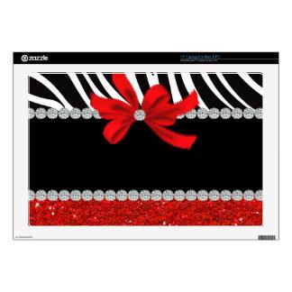 "Diamond Diva (red glitter) Decal For 17"" Laptop"
