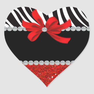 Diamond Diva (red glitter) Heart Sticker