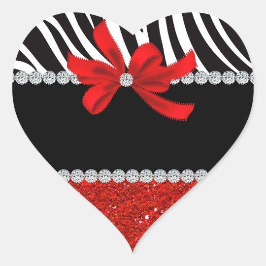 Diamond Diva (red glitter) Heart Sticker