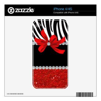 Diamond Diva (red glitter) iPhone 4S Skin