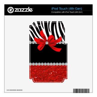 Diamond Diva (red glitter) iPod Touch 4G Skins