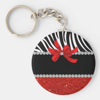 Diamond Diva (red glitter) Keychain