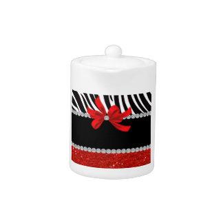 Diamond Diva (red glitter) Teapot