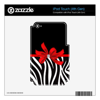 Diamond Diva (red) iPod Touch 4G Decal