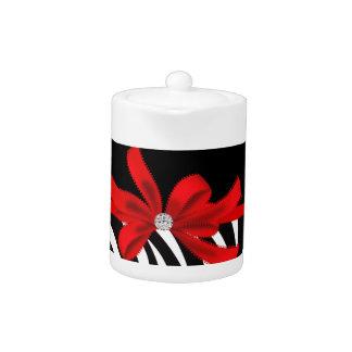 Diamond Diva (red) Teapot
