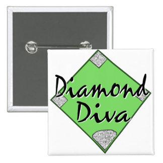 Diamond Diva Softball Pin
