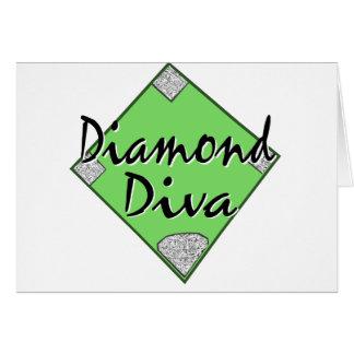 Diamond Diva Softball Greeting Card