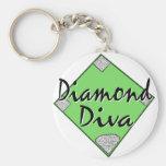 Diamond Diva Softball Key Chain