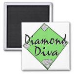 Diamond Diva Softball Magnets