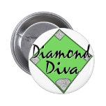 Diamond Diva Softball Pins
