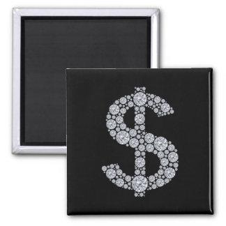 Diamond Dollar Sign Bling Magnet