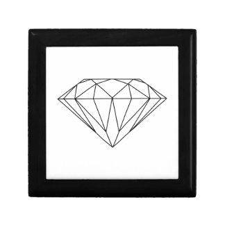 Diamond Drawing Black and White Modern Gift Box