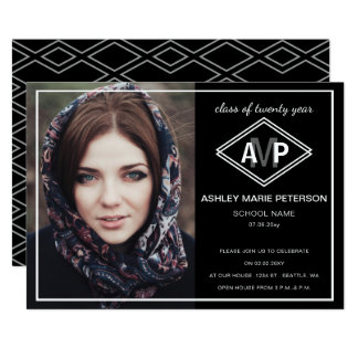 Diamond Dreams Elegant graduation announcement