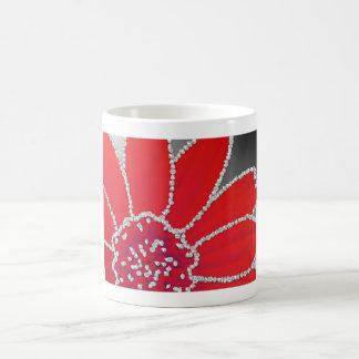 Diamond edge flower - fire red coffee mugs