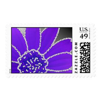 Diamond Edge Flower - Purple Postage Stamp