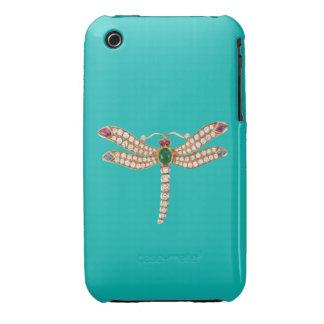 Diamond Emerald Gold Dragonfly Blackberry Curve Ca iPhone 3 Case-Mate Case