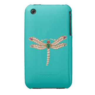 Diamond Emerald Gold Dragonfly Blackberry Curve Ca iPhone 3 Cover
