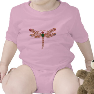 Diamond Emeralds and Gold Dragonfly Baby Bodysuits