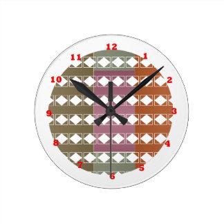 Diamond Energy Clean Aura n Radiant Background Round Clock
