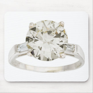 Diamond Engagement Ring Hint Hint Mousepads