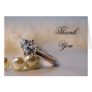 Wedding ring thank you cards