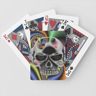 diamond eyes skull playing cards trippy